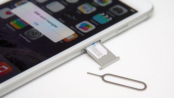 iPhone 6 bruker nano-SIM.