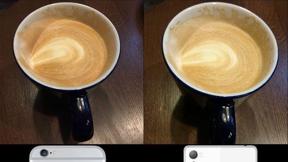 Bilder tatt med iPhone 6 (venstre) og Sony Xperia Z3.