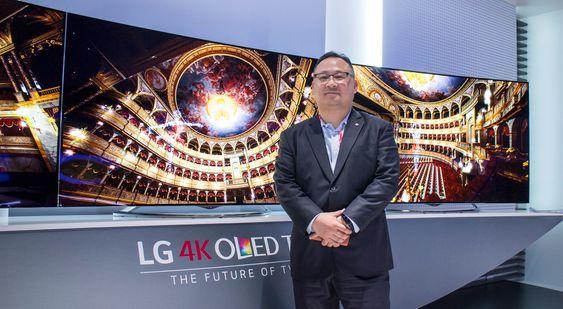 Selvsikker: LG er i en svært gunstig posisjon nå når OLED-produksjonen virkelig er i gang for fullt, mener selskapets internasjonale informasjonssjef Kenneth Hong.
