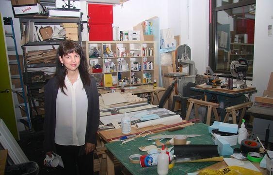 Snøhetta-sjef Elaine Molinar i verkstedet på Snøhettas New York-kontor.