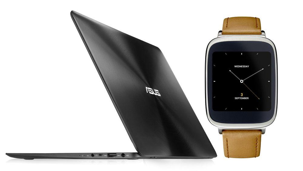 Asus lanserte en lekker ultrabook med sylskarp skjerm og Intel Core M-prosessor, og en ny smartklokke med Android Wear under IFA-messen.