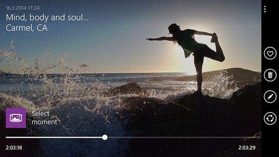 Den nye kameraappen lar deg ta 4k-video og plukke ut bilder.