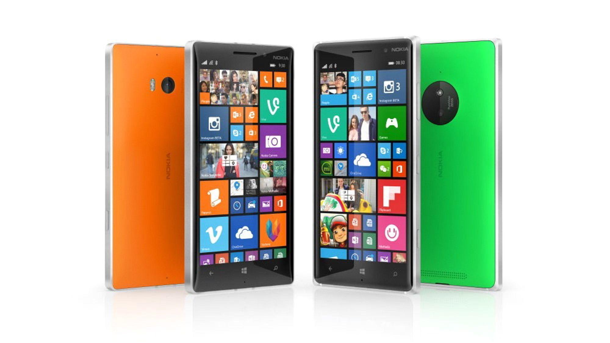 Microsoft lanserte to nye telefoner i Lumia-serien under IFA-messen. Lumia 735 til venstre, og Lumia 830 til høyre.