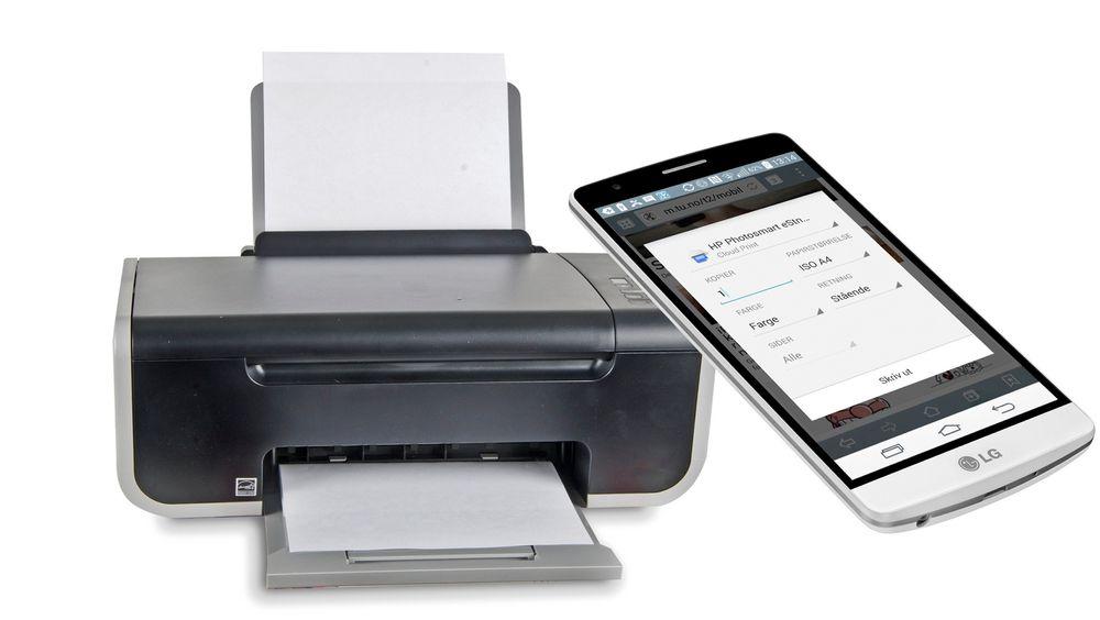 Enkelt: Det er enkelt å skrive ut fra mobiler eller nettbrett om du kobler printeren din til Googles Cloud Print-tjeneste. Det fungerer på nye så vel som gamle printere. Ill.: Colourbox/montasje