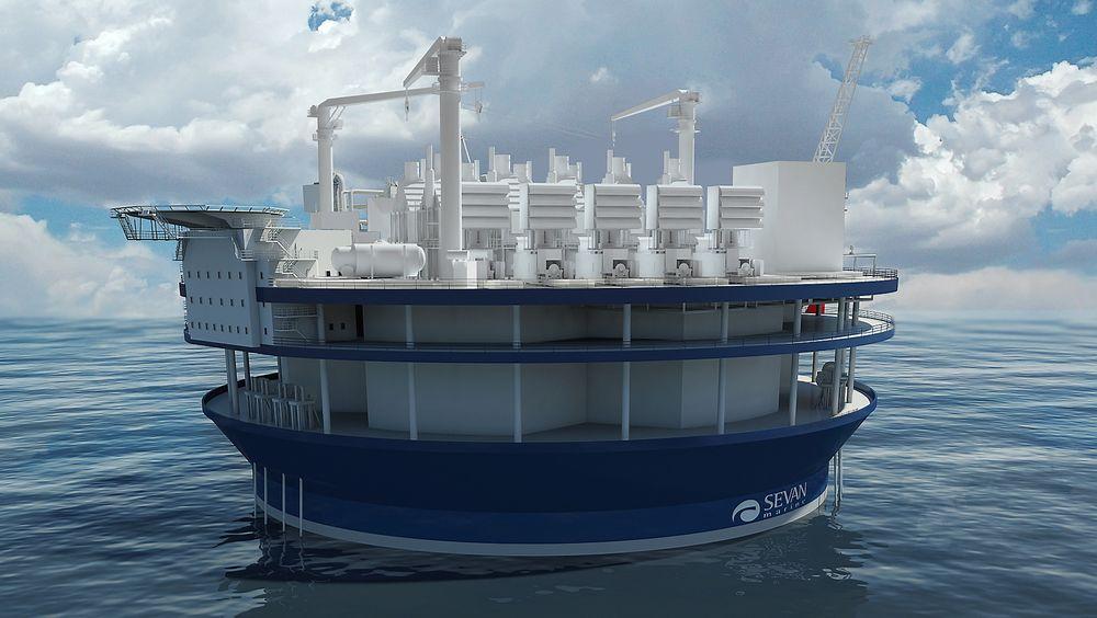 Sevan og Siemens har i flere år jobbet med konsepter for flytende gasskraftverk. Nå er japanske myndigheter interessert i konseptet.