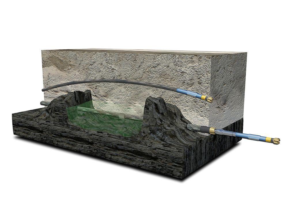 Det nye boreverktøyet kan nå reservoarer der tradisjonell boreteknologi må gå rundt.
