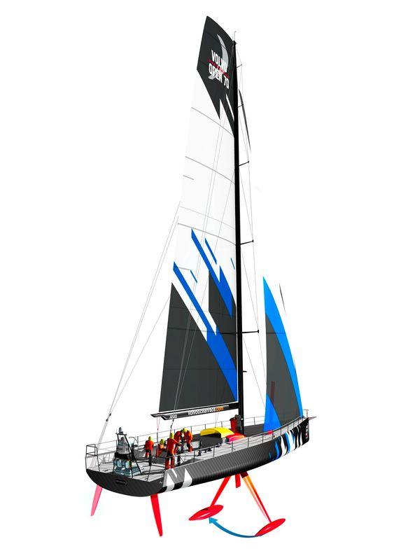 VO70 båtene har kjøl som kan kantes 40 grader med et hydraulisk system for å gi båten mest mulig stabilitet.