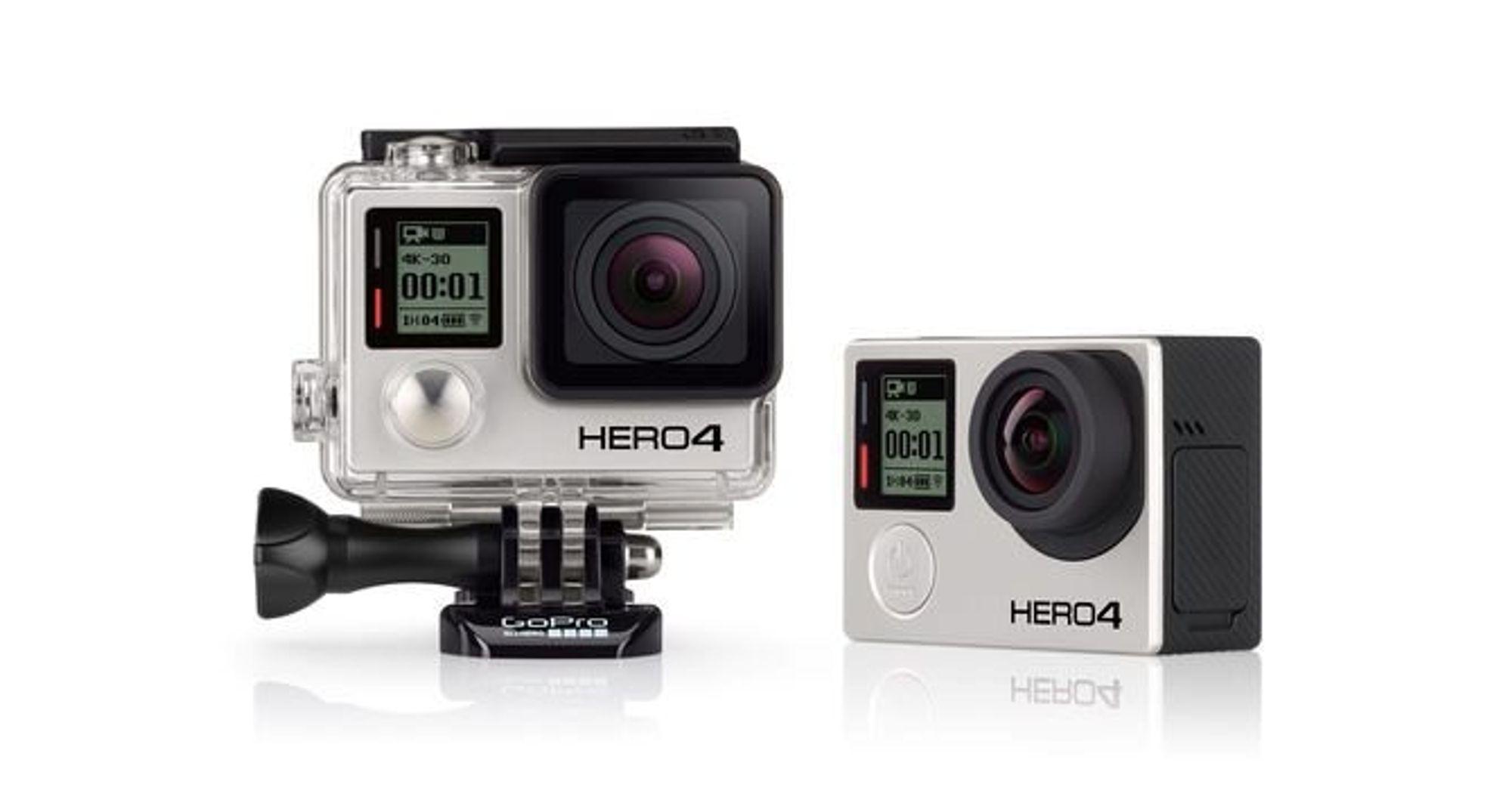 Nye GoPro-kameraer filmer i 4K og har touch-skjerm