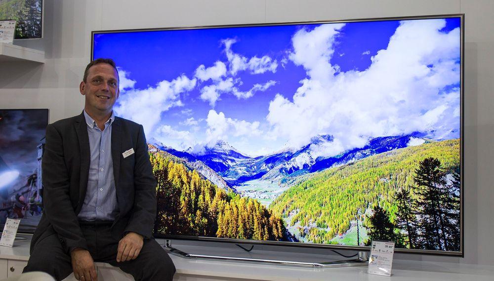 Stort og billig: Ole Gunnar Ingul lede den kinesiske offensiven på det norske TV-markedet. Hva med en 85-tommer til rundt 80.000 kroner?