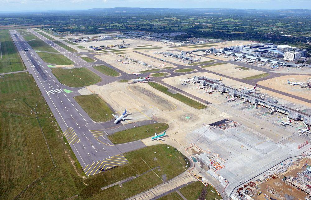 Gatwick lufthavn.