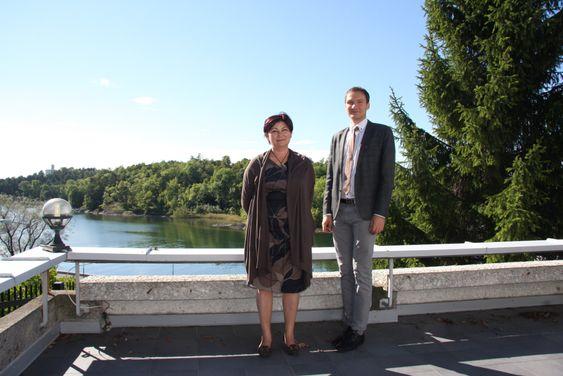 Tamara Chernysheva leder Den russiske føderasjons handelsrepresentasjon i Norge og rådgiver Alexander Lizogub møtte nylig oljebransjen under ONS i Stavanger.