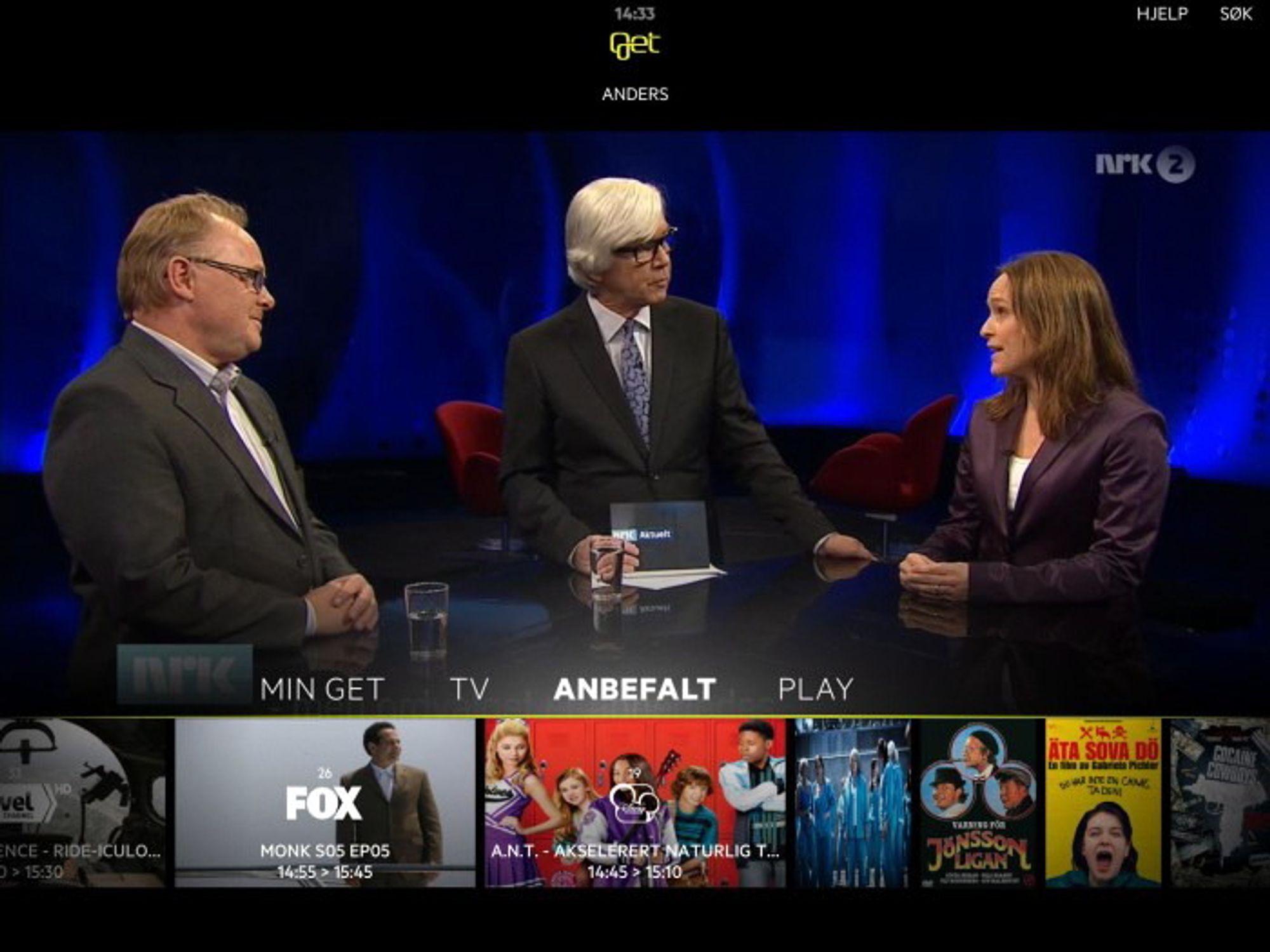 """I dag annonserte Get at """"Get tv"""" blir tilgjengelig i Google Play."""