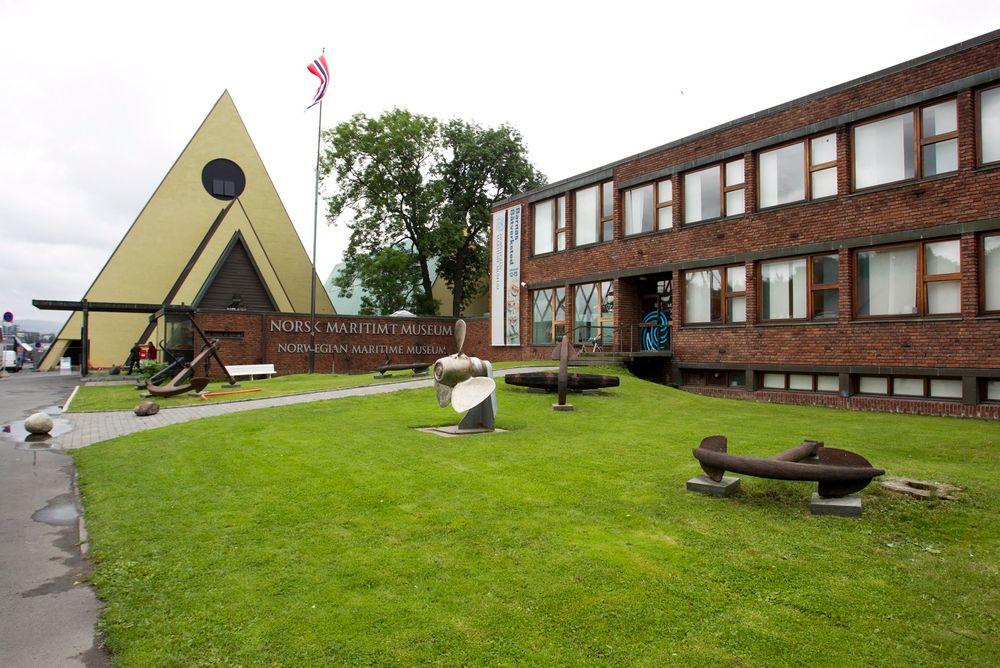 Maritimt museum til høyre,  Fram-museet i bakgrunnen.