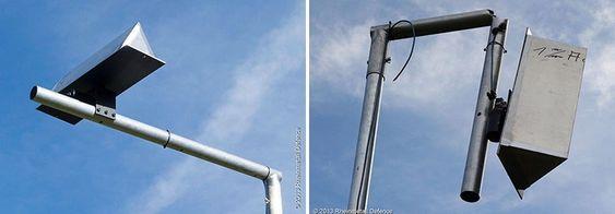En radarmast før og etter et angrep fra Rheinmetalls laservåpen.