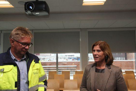 Administrerende direktør Per A. Sørlie, Borregaard og konsernsjef Anne Marit Panengstuen, Siemens.