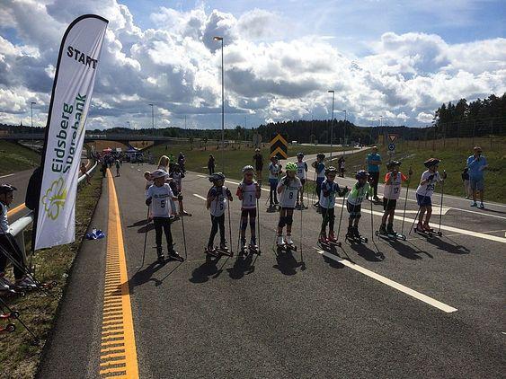 I mai i år arrangerte skiklubbene i Mysen og Slitu rulleskirenn på den uåpnede motorveien gjennom Eidsberg.