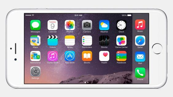 iPhone 6 kan vise startskjermen din vannrett.