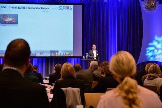 Jørgen Arnesen, administrerende direktør i COSL Drilling Europe, snakket om hvilke virkemidler COSL har brukt i rekrutteringsarbeidet i selskapet som nå har 900 ansatte, og om utfordringer for bransjen framover.