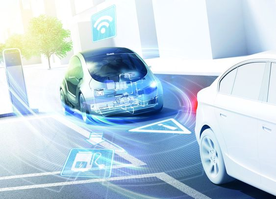 Den tilkoblede bilen: I fremtiden vil biler være permanent tilkoblet nettet, miljøet og andre bilder i nærheten.