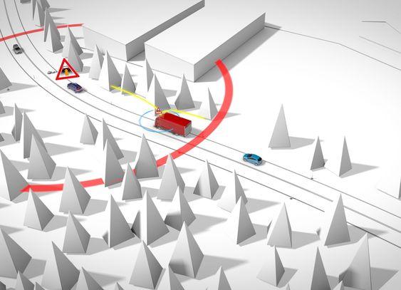 C2I: Car to Infrastructure gor det mulig å vasle andre biler som en farlig situasjon. Bremser en bil hardt kan andre biler som kommer inn i det posensielt farlige område får et varsel fra nettverket. Biler i umiddelbare nærhet vil vasles direkte fra bilen som bremser; C2C.