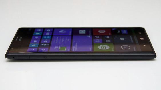Lumia 1520 er 8,7 millimeter tykk, men da er ikke kameraet som buler ut på baksiden tatt med.
