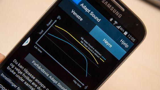 Du kan tilpasse lyden i telefonen til din hørsel og hvilket hodesett du bruker.