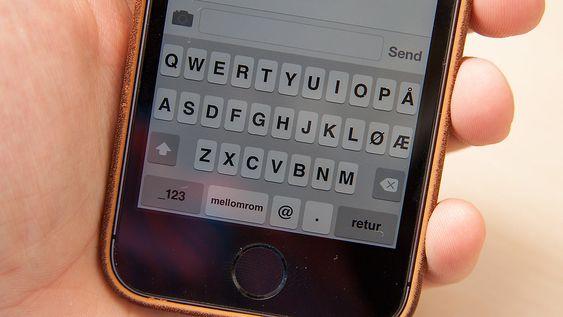 Nå får du fet skrift flere steder, blant annet på tastaturet.
