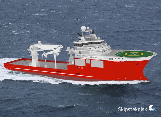 Skipsteknisk i Ålesund har designet et subsea IMR konstruksjonsskip med betegnelsen ST-259 for Volstad Shipping. Fartøyet blir 128 meter lagt, 25 meter bredt og har lugarplasss til 120. Det er forbredt for Arktis med høy isklasse, oppvarming og avisingssystem, ROV-moonpool og har i tilleg en 300 tonns kran.