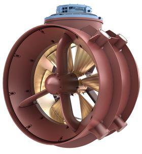 Rolls-Royce-versjon: Permanentmagnetmotoren sitter rundt propellen, som roterer på kuleleager, støttet opp av en aksling.