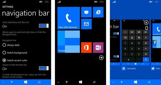 Windows Phone 8.1 skal komme med støtte for navigasjonstaster på skjermen i stedet for fysisk på fremsiden av telefonen.