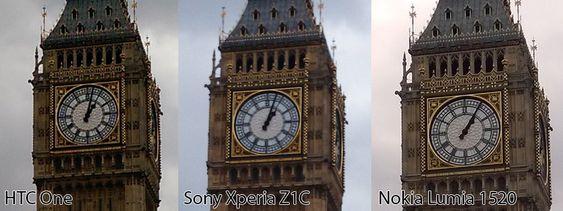 Bilder tatt med HTC One (M8), Sony Xperia Z1 Compact og Nokia Lumia 1520.
