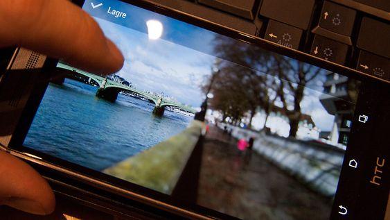 Du kan velge «fokus» etter at du har tatt bildet. I praksis legger programvaren i telefonen på filtre i ettertid. Fokus kan i realiteten ikke endres.
