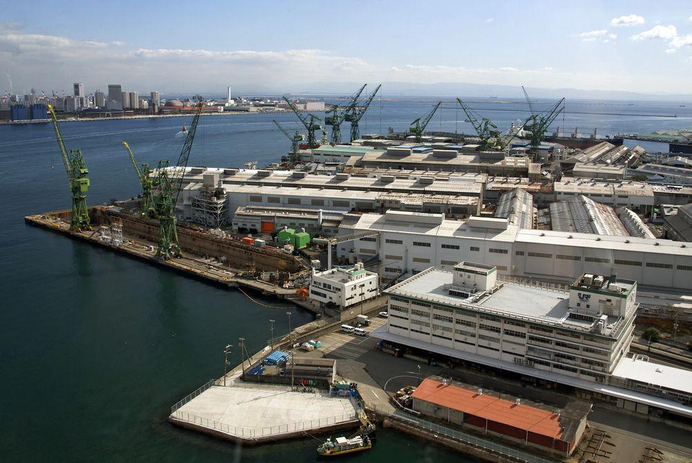 Bygger for Island: Kawasaki Shipyard i Kobe i Japan skal bygge det avanserte offshorefartøyet for Island Offshore. Kawasaki har reist rundt i Norge siden 2009 for å presentere seg for norske redere.