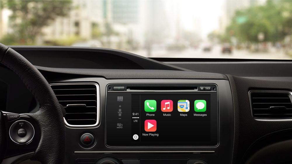 iOS i bilen: Med Carplay kommer de viktigste appene opp i bilens skjerm