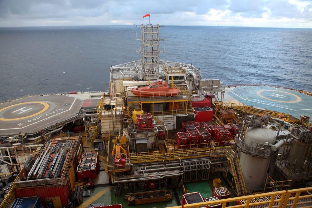 Oljedirektoratet tror de kommer til å slite med å nå sine mål for 2015. Her er norsk sokkel representert ved Statfjord B.