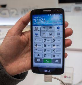 Forenkling: MAnge synes moderne smartmobiler er for vanskelige å bruke. LGs nye telefoner kan settes i forenklet modus.