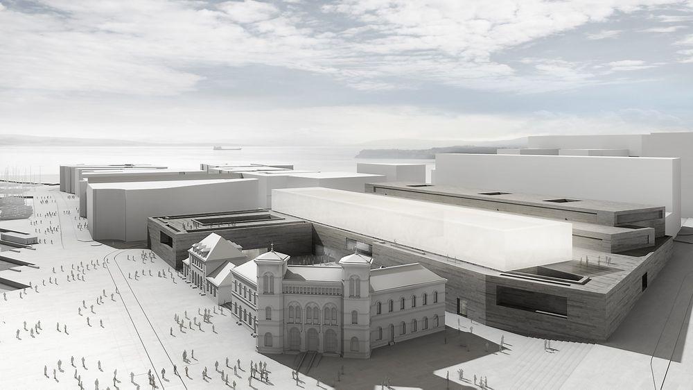 Klima: Det nye Nasjonalmuseet kan få et klimaavtrykk under halvparten av et tilsvarende men ordinært bygg der ingen tenker CO2-utslipp i materialvalg.