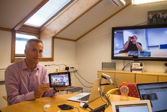 Loftsrevolusjon: Teknisk direktør i Pexip, Håkon Dahle, og de andre avhopperne fra Tandberg/Cisco vil revolusjonere videokonferanse fra et trangt loft på Fornebo.