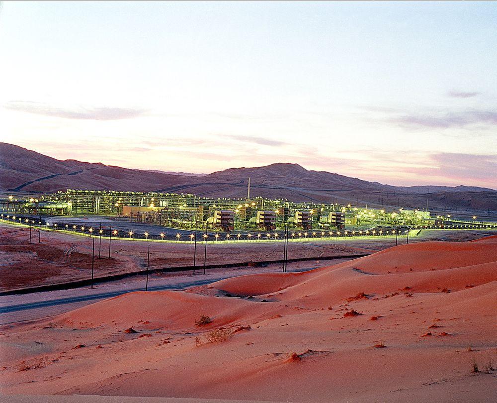 Saudi Aramcos Shaybah-produksjonsanlegg for olje.