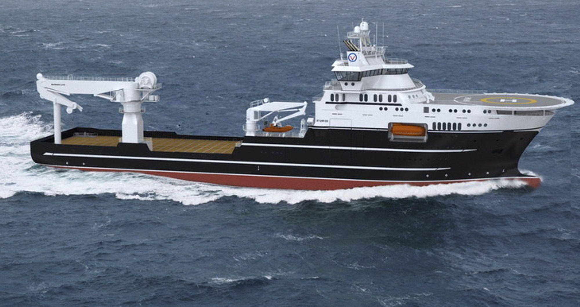To på vei: Volstad Maritime får de to offshore konstruksjonsskipene med ST 259 COCV design levert i slutten av 2014 og begynnelsen av 2015 fra Kleven og ikke Bergen Group.