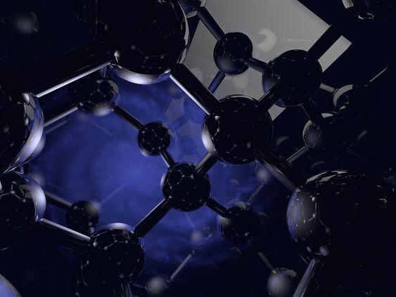 Artistisk gjengivelse av silisium-28-isotop.