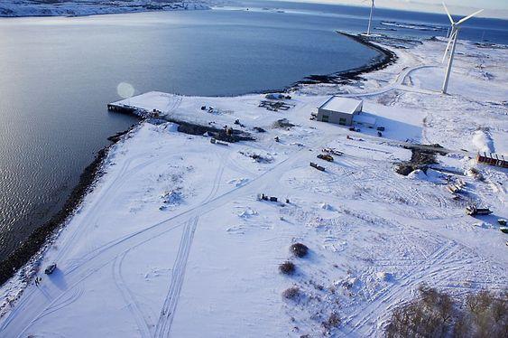 Byggestart: Foto fra februar 2013 av tomta der Reinertsen like etter satte gravemaskinskuffen i bakken.
