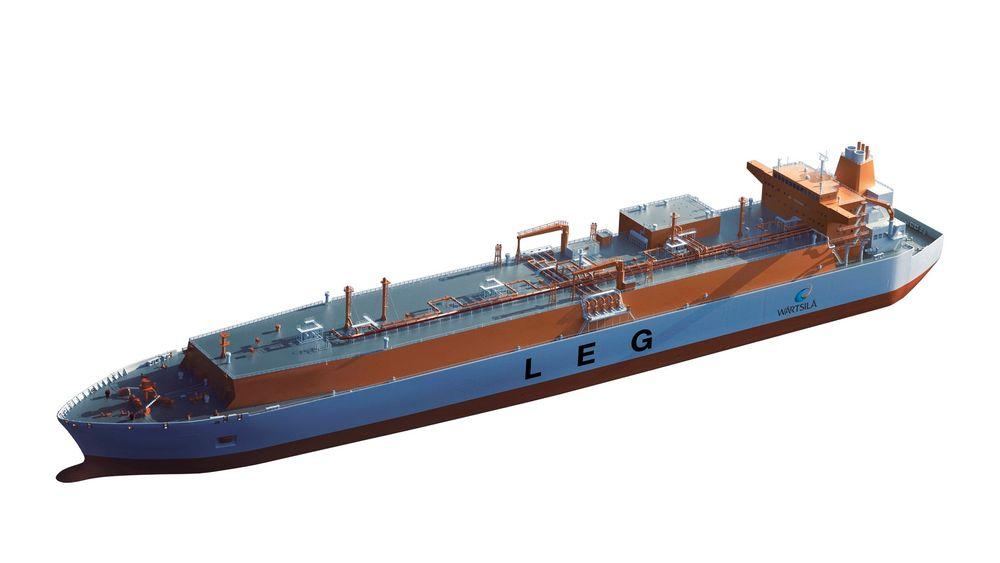 Size matters: Indiske Reliance Group har bestilt seks store skip for frakt av etangass fra USA til India. Skipene kan ta 87.000 kubikkmeter etangass.