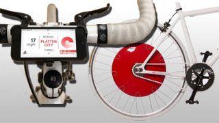 Hjulet gjør sykkelen elektrisk og snakker med telefonen