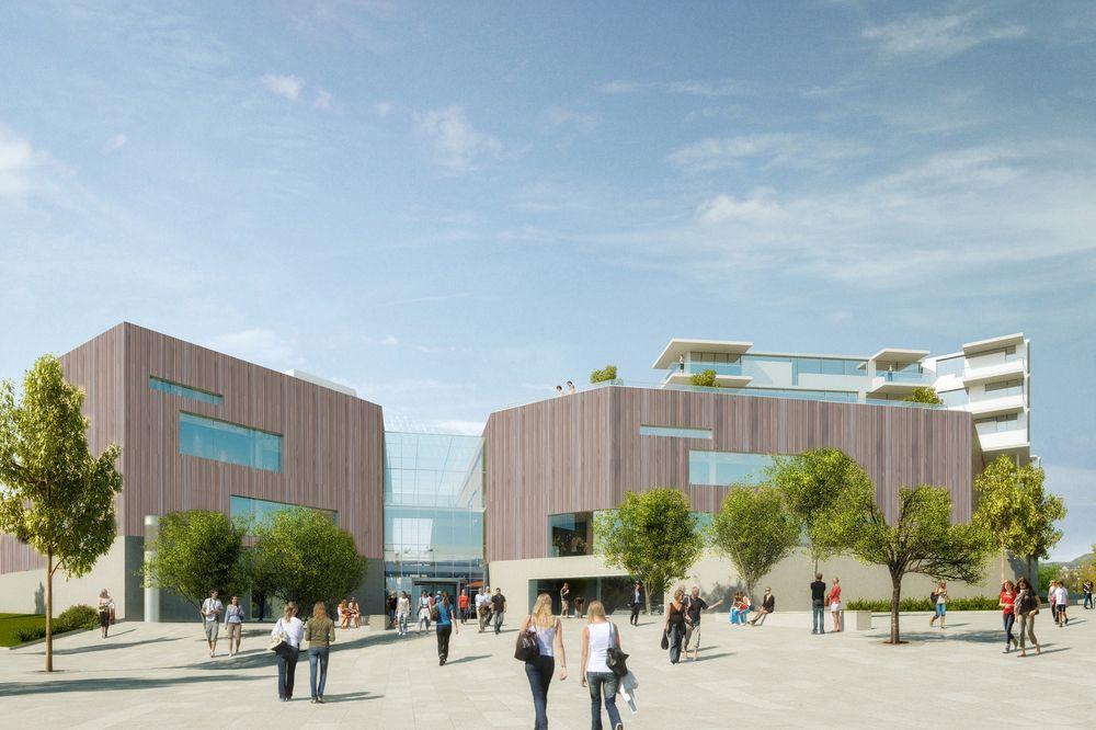 """Det nye kjøpesenteret på Fornebu er det første kjøpesenteret i verden som mottar den internasjonale miljøklassifiseringen """"Outstanding""""."""