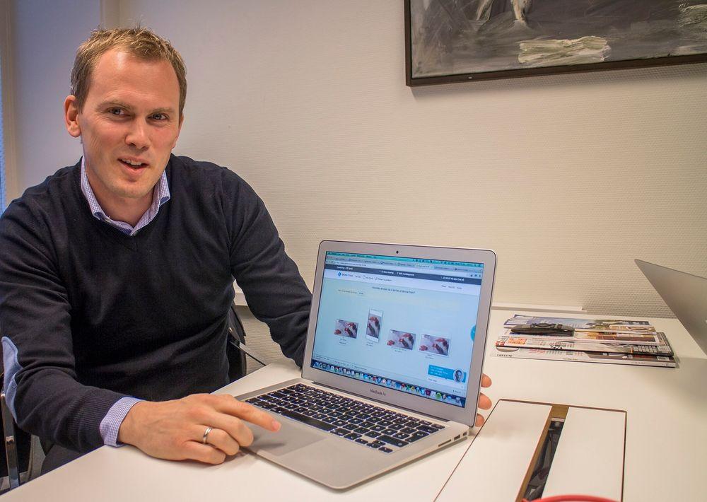 Tar papiret til nettskyen: Markedssjef Christian Sæterhaug i det norske selskapet Gelato Group forteller at de har stor suksess i mange land med å innføre selvbetjeneing av trykkerioppdrag. Både kunder og trykkerier for fordeler