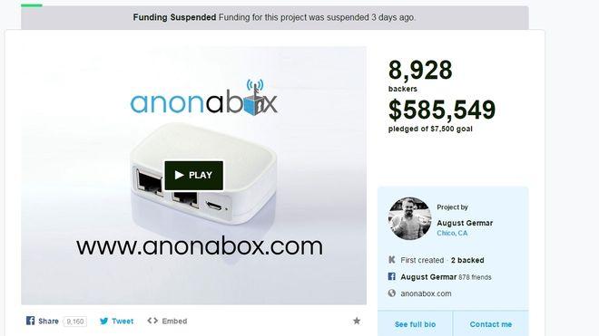 Samlet inn over 3,85 millioner kroner. Ble suspendert av Kickstarter