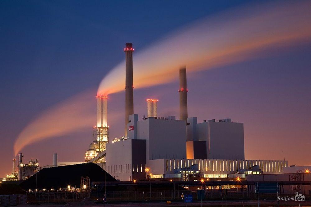 E-ONs kullkraftverk Maasvlakte i Rotterdam, illustrasjonsfoto.