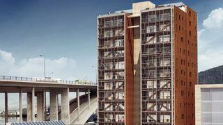 Byggingen av verdens høyeste trehus er i gang