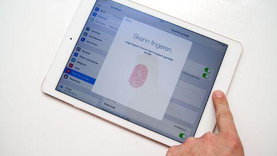 Endelig fingeravtrykkleser på iPad.